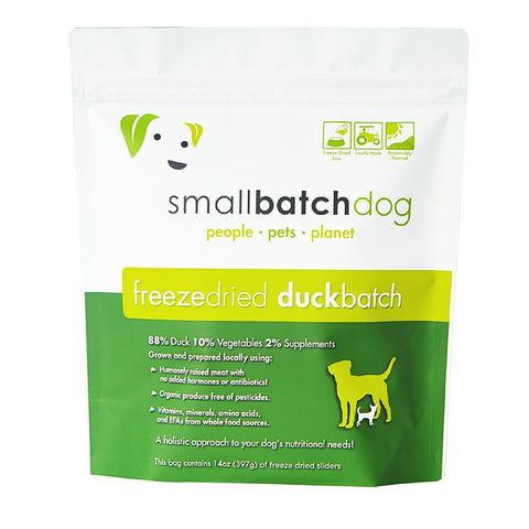 Smallbatch Duck Batch Sliders Freeze Dried Dog Food 14oz
