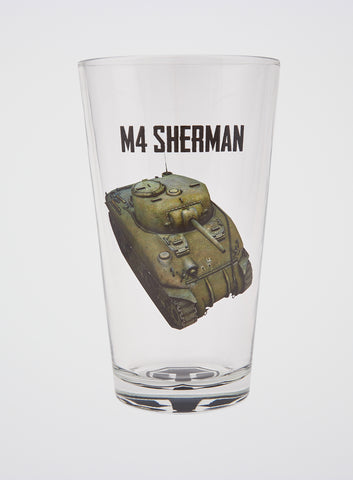 World of Tanks Sherman Pint Glass