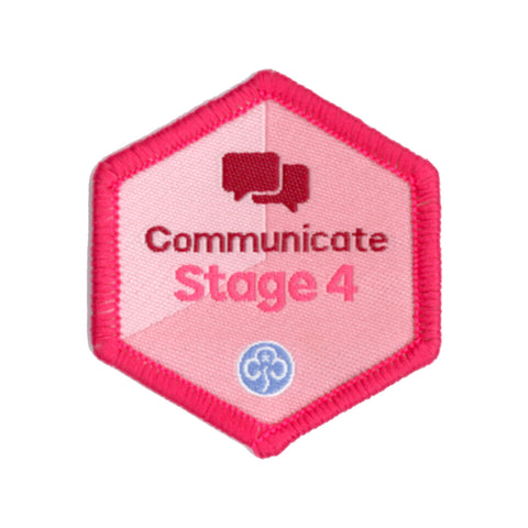 Skills Builder - Express Myself - Communicate Stage 4 Woven Badge