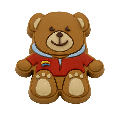 Rainbow Bear Rubber Pin Badge