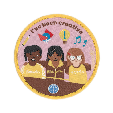 Brownies I've Been Creative Woven Badge