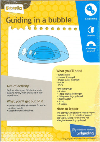Brownies - Unit Meeting Activity Pack 3 - Guiding in a Bubble/Mime Time