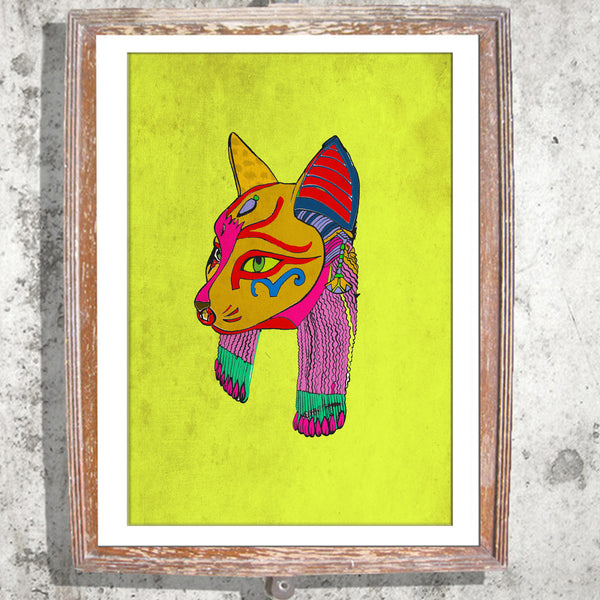 "Signed Print / ""The Cat Head"""