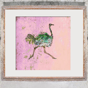 "Signed Print / ""The Prancing Ostrich"""