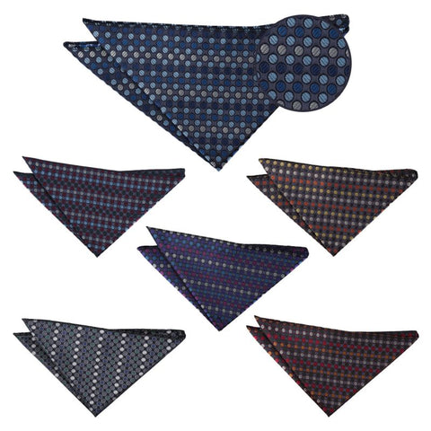 Chequered Polka Dot Pocket Square in 6 colours