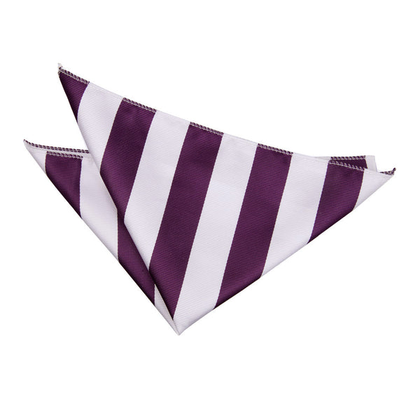 Striped Pocket Square in 16 colours