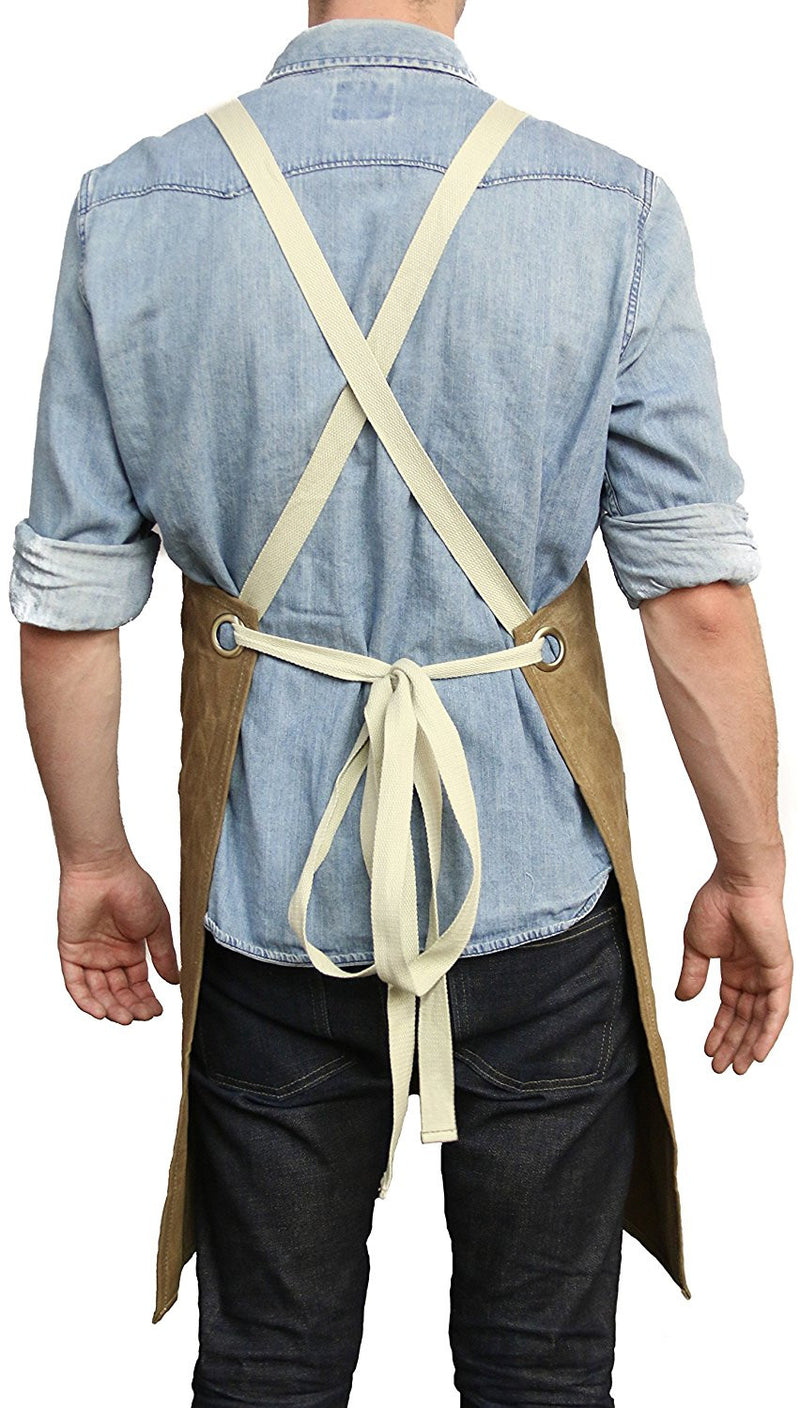 Utility Apron, Cross-back Straps (Tan)