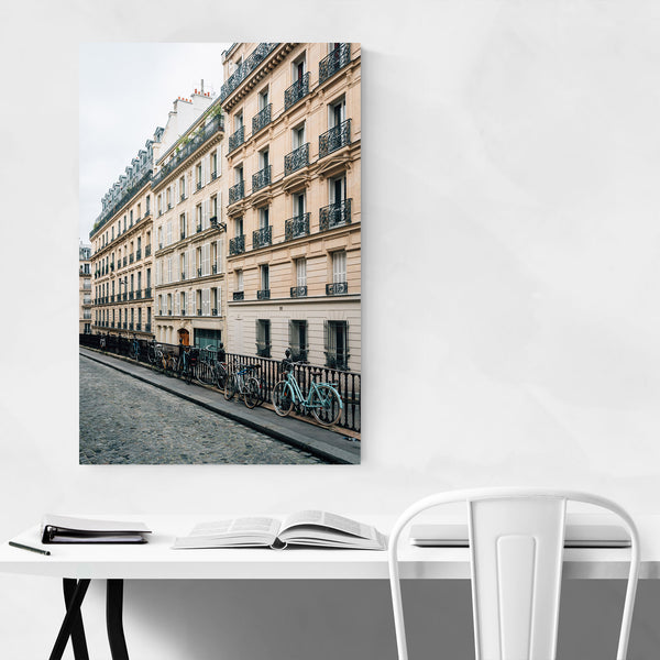 Bikes Architecture Paris France Art Print