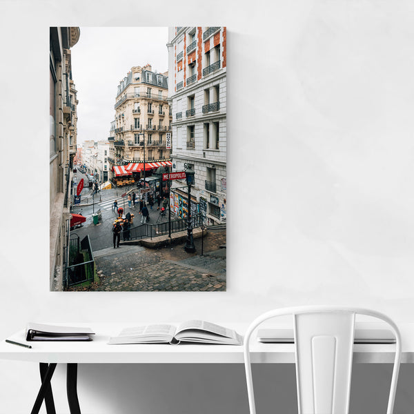 Montmartre Metro Paris France Art Print