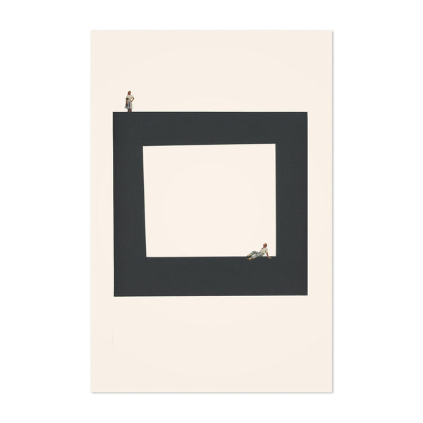 Abstract Geometric Square Woman Art Print
