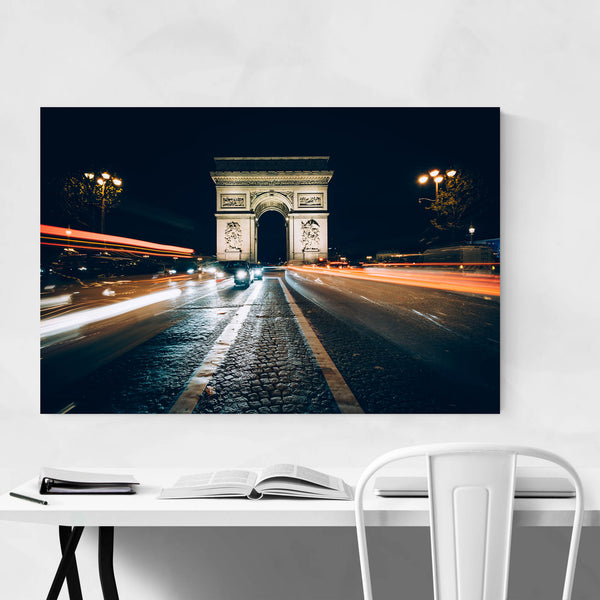Paris Arc De Triomphe Night Art Print