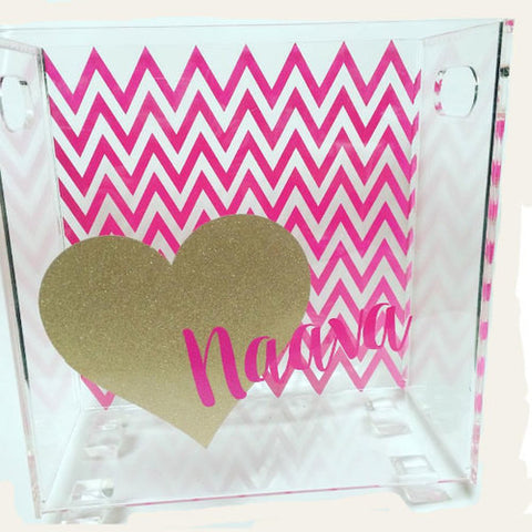 Chevron with Heart Book Holder