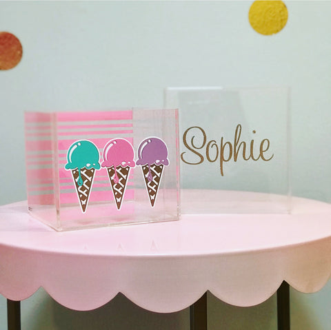 Ice Cream Lucite Box