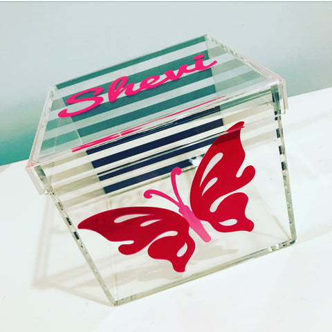 Butterfly Lucite Box