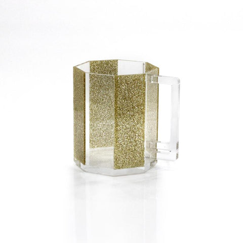 Gold Glitter Washing Cup