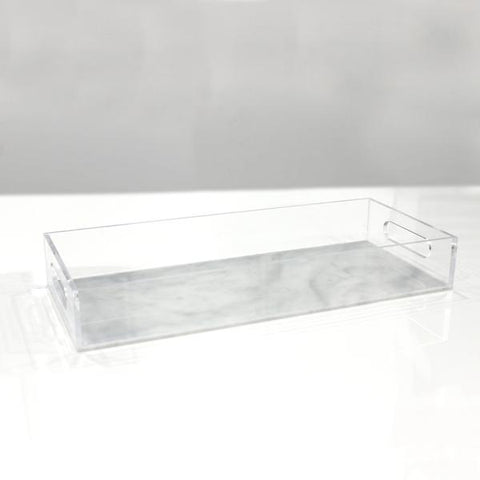 White Marble Lucite Bread Tray