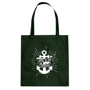 Tote Love is my Anchor Canvas Tote Bag