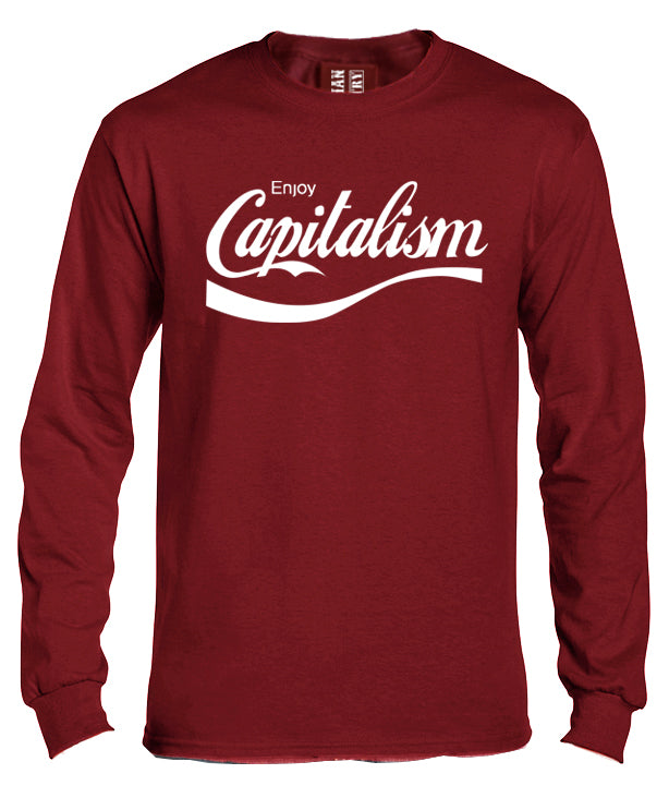 Enjoy Capitalism Long Sleeve Shirt by Libertarian Country