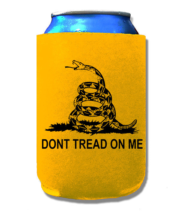 Libertarian Country Don't Tread on Me Gadsden Flag Koozie