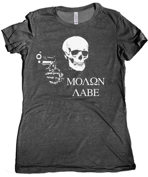 Molon Labe Women's Tee by Libertarian Country