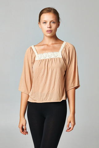 Coolwear Square Neck Lace Top - WholesaleClothingDeals - 1