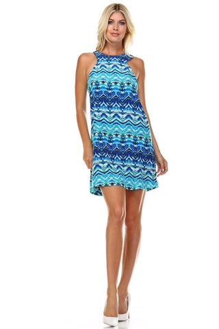 Marcelle Margaux High Neck Cut-Out Sleeveless Dress - WholesaleClothingDeals - 1