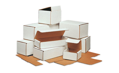 4 x 4 x 3 White Corrugated Mailers - Shipping-Depot