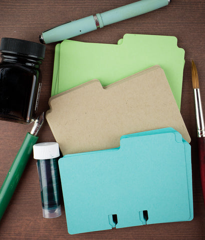 Col-o-dex Tab Accessory Pack - (Kraft/Blue/Green)