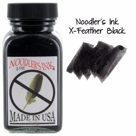 Noodler's Anti-Feather / X-Feather Black Ink (3 oz Bottle)