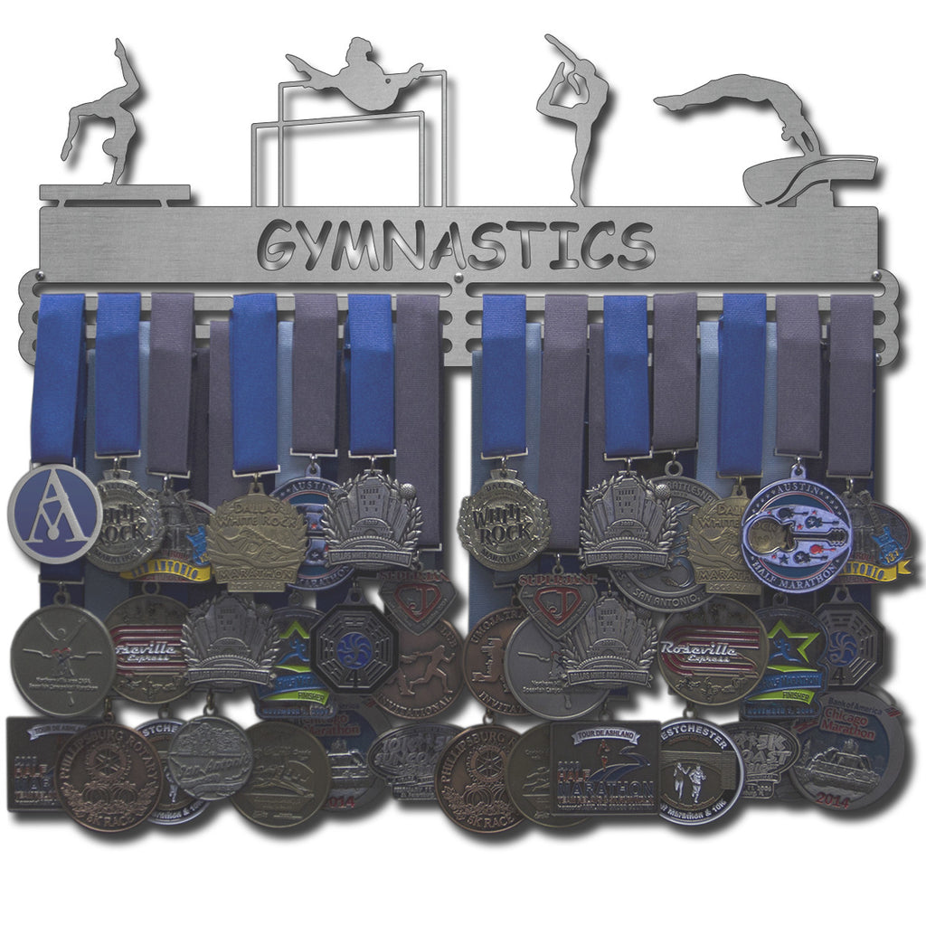 Lizatards GYMNASTICS Medal Holder Cut Out Display Male (Boys) Or Female (Girls)