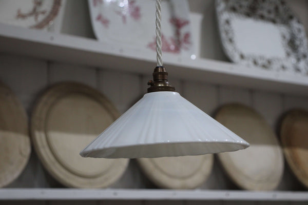 Milk Glass Light Fittings