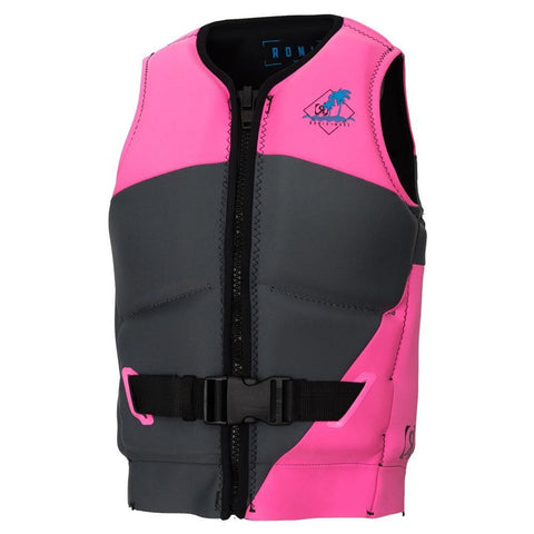 2019 Ronix August L50S Girls Vest - Grey / Pink