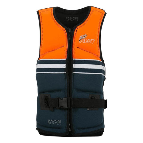 2019 Jetpilot Scope Revers Seg F/E Neo Vest - Black/Orange Level 50