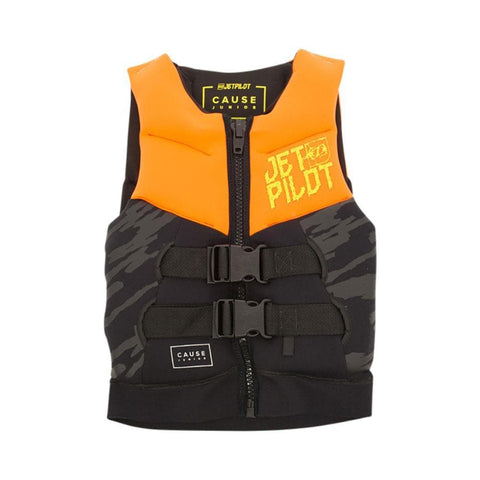 2019 Jetpilot THE CAUSE F/E KIDS NEO VEST - Orange Level 50