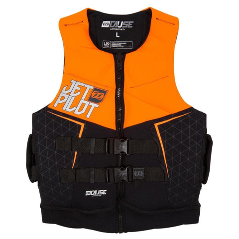 2019 Jetpilot The Cause L50 F/E Neo Vest - Orange Level 50