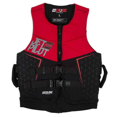 2019 Jetpilot The Cause L50 F/E Neo Vest - Red Level 50