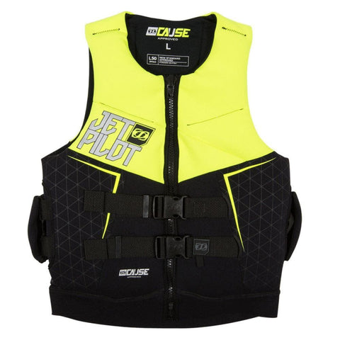 2019 Jetpilot The Cause L50 F/E Neo Vest - Yellow Level 50