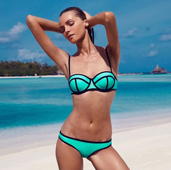 HAVANA neoprene bikini, mint green
