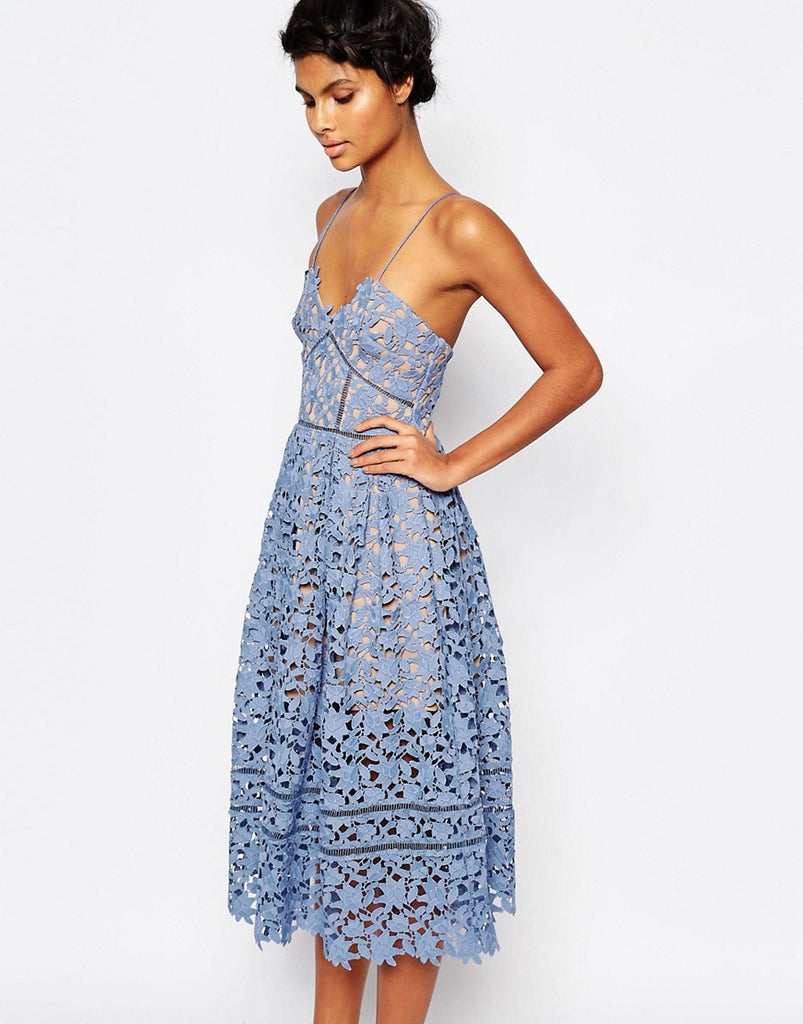 HAMPTONS mid length dress, blue
