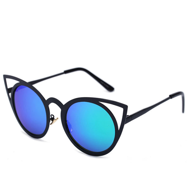 VENUS mirror sunglasses, black/ blue