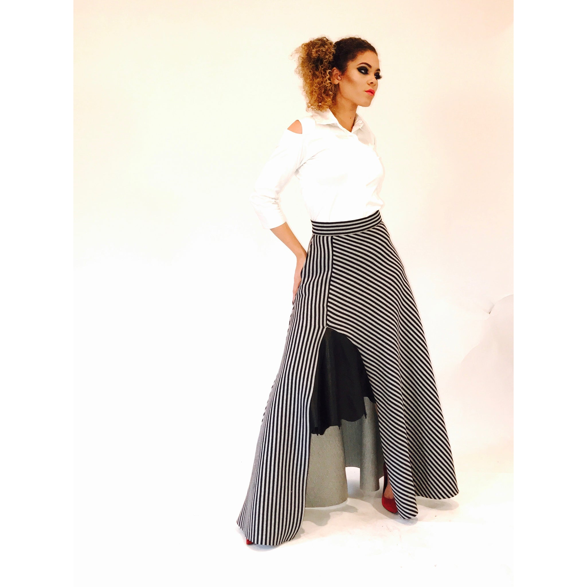 IDIA MAXI SKIRT WITH LEATHER DETAIL
