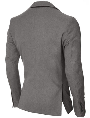 Mens Slim Fit Casual Blazer with Contrast Details Gray (MOD14514B)