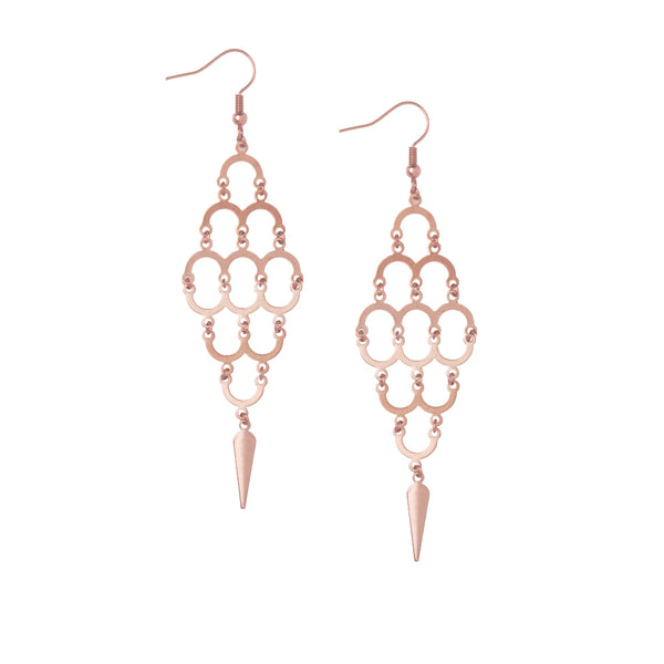 Large Aefifa Rose Gold Earrings £90.00 GBP