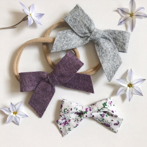 Mini School Girl Heathered Felt and Floral Collection