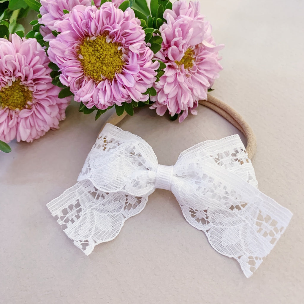 Scalloped White Lace