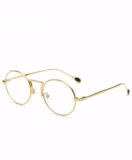 ANTI-BLUE RAY COMPUTER GLASSESS GOLD / BLACK FRAMES KOREAN STYLE - IMPAVIID