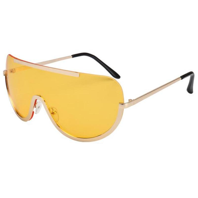 RETRO INSPIRED VISOR STYLE OVERSIZED SUNGLASSES MULTIPLE COLORS - impaviidit