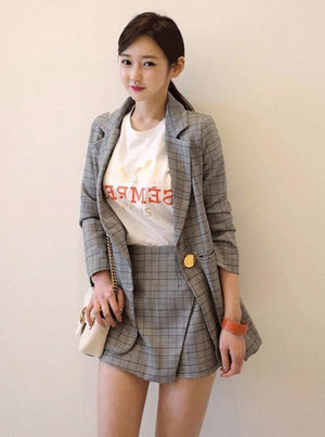 PLAID 2 PIECE GARNITURY Z SZORTAMI - impaviid