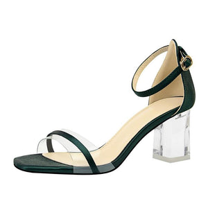 CLEAR KITTEN HEEL JELLY SANDALS BEZRODKOWE - IMPAVIID