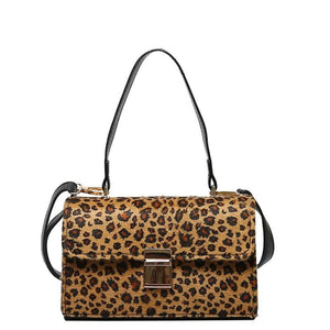 LEOPARD PRINT SMALL MESSENGER BAG